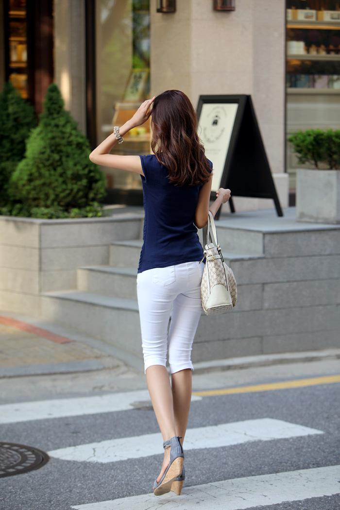 2012韩版时尚夏季休闲5分裤