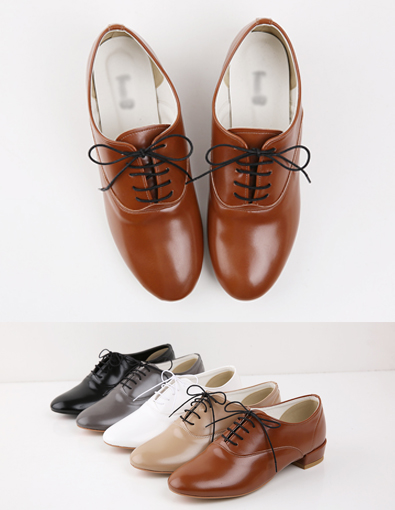 One Color Oxford Shoes