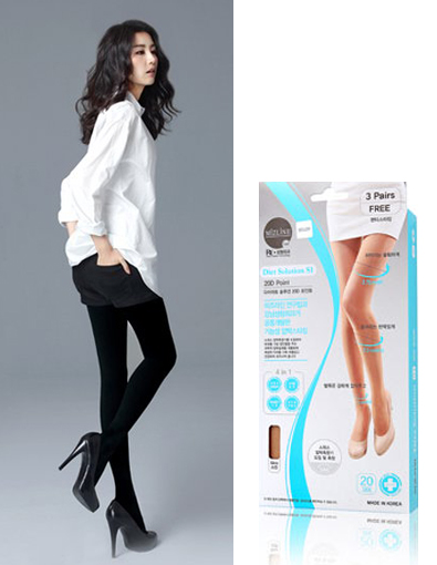 [LegBeauty] Compression Slimming Stockings 3P