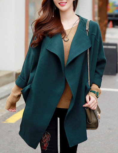 Loose Fit Open-front Jacket