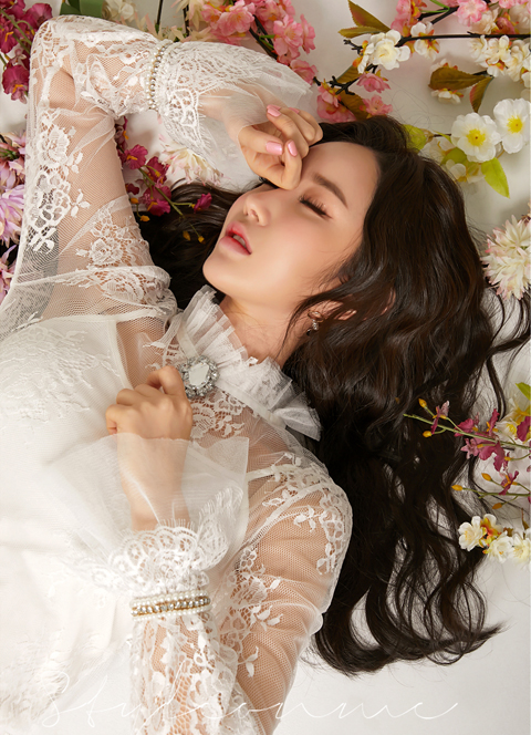 See-through Full Lace Bell Sleeve Blouse, 스타일온미