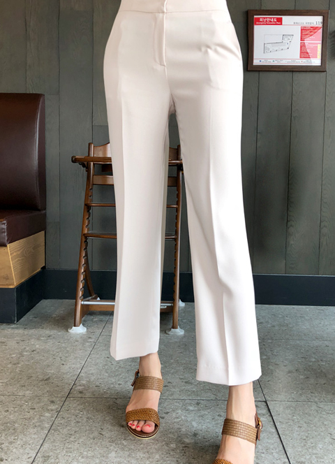 Modern Semi-Boot Cut Slacks, 스타일온미