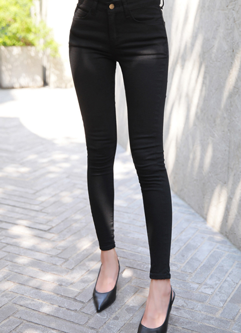 Perfect Fit Cotton Skinny Pants, 스타일온미
