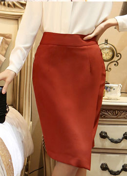 Asymmetrical Wrap Pencil Skirt, Styleonme