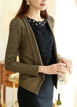 Golden Metal Cardigan, Styleonme