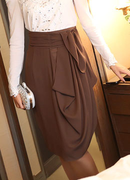 Two-way Drape Skirt, Styleonme