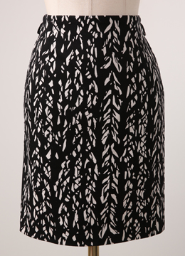 Leaves Printed Pencil Skirt, Styleonme