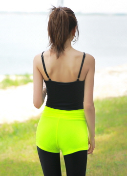 Neon Colors Hot Shorts, Styleonme