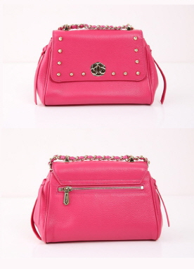 Studded Crossbody Leather Bag, Styleonme
