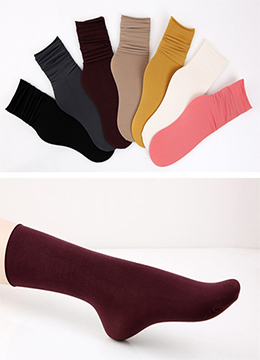 Solid Colour Long Socks, Styleonme