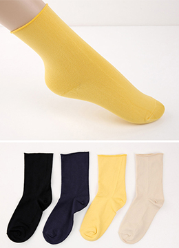 Solid Color Socks, Styleonme