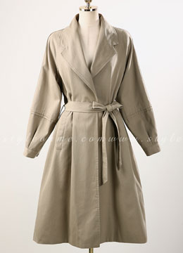 Long Flared Trench Coat, Styleonme