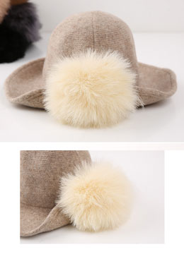 Fur Side Detail Bowler Hat, Styleonme