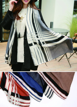 Grid Print Design Long Scarf, Styleonme