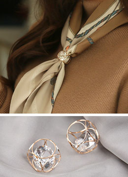 Jeweled Scarf Ring, Styleonme