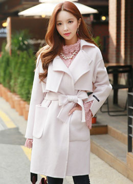 Handmade Wool Trench Coat, Styleonme