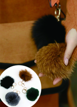 Real Fox Fur Keyring, Styleonme