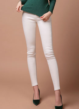 Warm Fleece-lined Skinny Pants, Styleonme