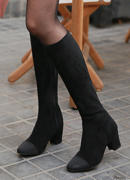 Round Toe Knee High Boots, Styleonme