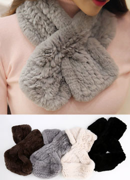 Soft Rabbit Fur Muffler, Styleonme