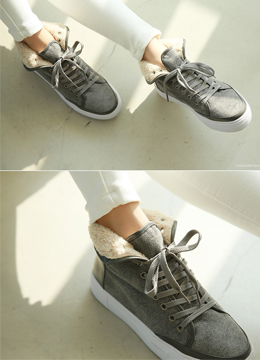 Wool High Top Sneakers, Styleonme