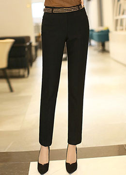 Perfect Line Straight Leg Pants, Styleonme