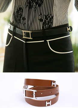 H Shaped Leather Belt, Styleonme