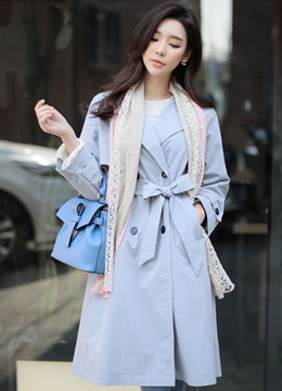Oversized Double-Breasted Trench Coat, Styleonme