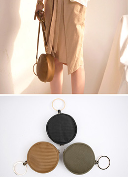 Mini Circular Pouch Bag, Styleonme