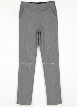 Houndstooth Patterned Straight Leg Slacks, Styleonme