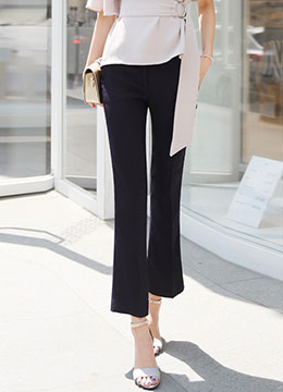 Boot-Cut Ankle Length Pants, Styleonme