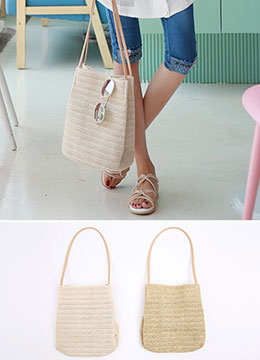 Weave Straw Shoulder Bag, Styleonme