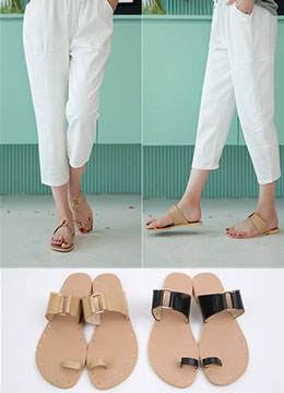 Toe Ring Flat Sandals, Styleonme