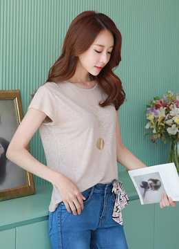 Basic Summer Linen T-Shirt, Styleonme