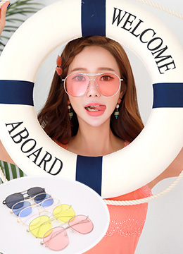Oversize Color Tinted Sunglasses, Styleonme