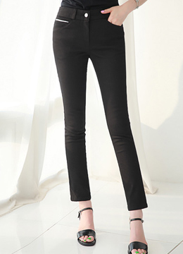 Ankle Length Cotton Slim Fit Pants, Styleonme