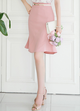 Semi-Flared Silhouette Skirt, Styleonme