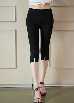 Stretchy Cropped Pants, Styleonme
