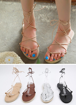 Gladiator Lace-Up Sandals, Styleonme