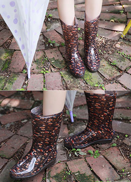 Floral Patterned Rain Boots, Styleonme