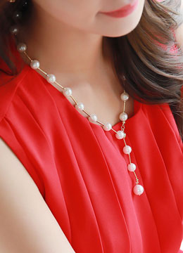 Feminine Pearl Necklace, Styleonme