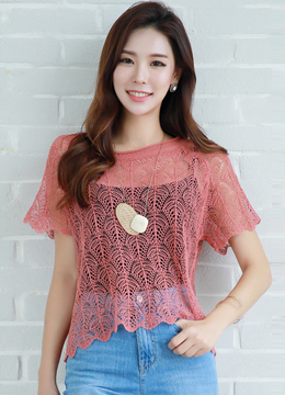 See-through Summer Knit Top, Styleonme