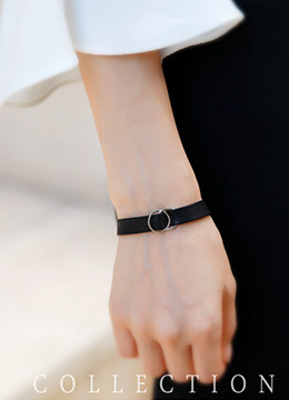 Double Ring Leather Bracelet, Styleonme