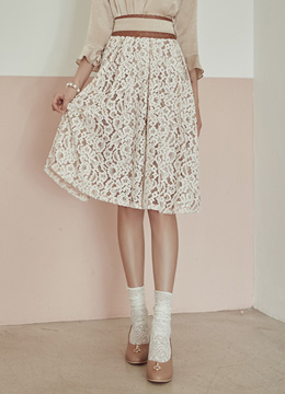 Full Lace Flared Skirt, Styleonme