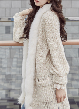 Cozy Twin Pocket Long Cardigan, Styleonme