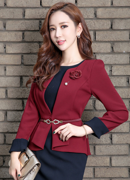 Two Color Jacket Dress, Styleonme