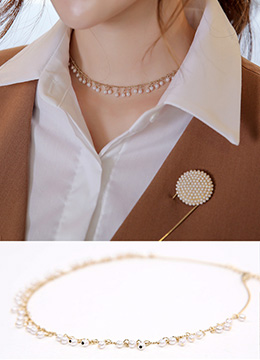 Mini Pearl Choker Necklace, Styleonme