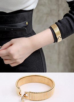 Luxury Gold Color Bangle, Styleonme