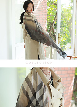 Check Print Long Scarf, Styleonme