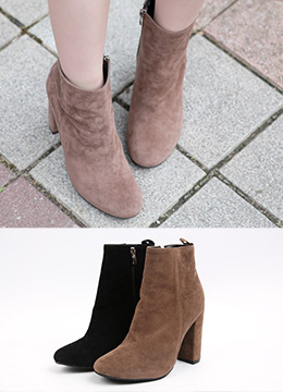 Suede High Heel Ankle Boots, Styleonme